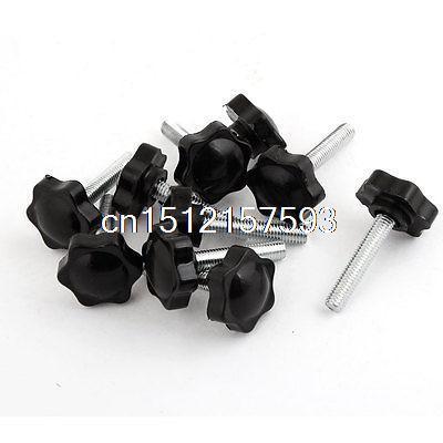 10pcs 32mm Head Dia M8 x 40mm Male Thread Clamping Knob