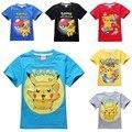 Дети pokemon идти рубашка дети покемон футболка для девочек топы и блузки мальчик одежда tee футболка мультфильм одежда костюм футболка