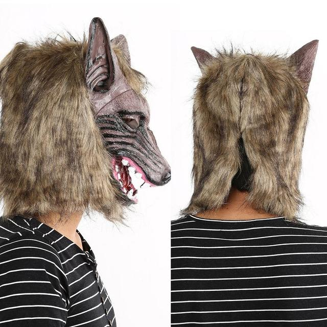 1pc Werewolf Halloween Mask Big Bad Wolf Adult Full Head Wolf Mask Costume Accessory Party Masks  sc 1 st  AliExpress.com & 1pc Werewolf Halloween Mask Big Bad Wolf Adult Full Head Wolf Mask ...