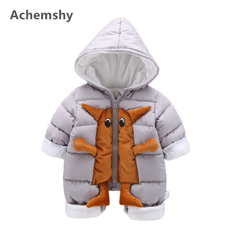 Winter Baby Thickening Clothes Infant Boys Velvet Monster Hooded Romper Outwear Jumpsuit Soft Warm 2 Colors цена 2017