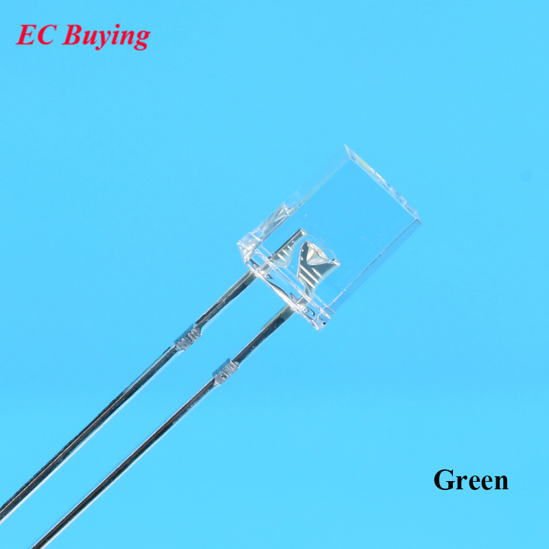 Active Components 100pcs 3v Rectangle Led 2x5x7mm New Quare Led Diode Transparent Water Clear Led Light Emitting Diode Lamp Green 2x5x7 Exquisite Traditional Embroidery Art Electronic Components & Supplies