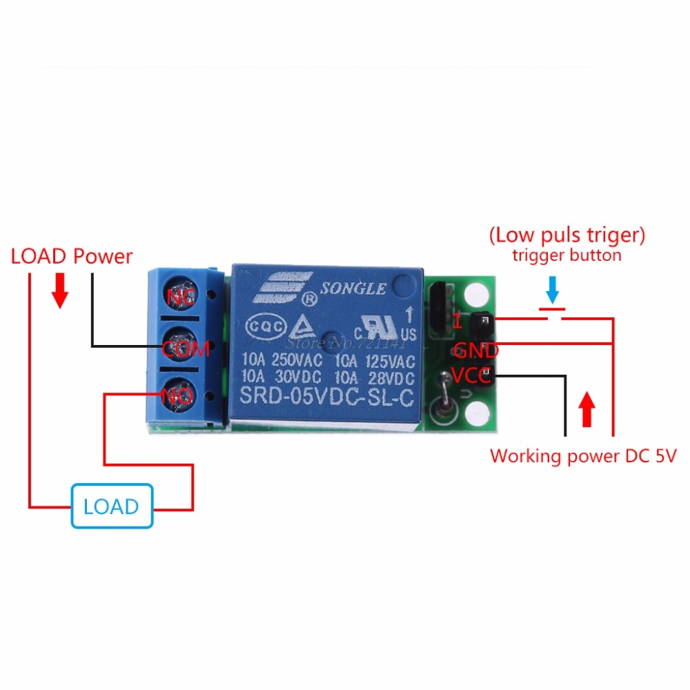 Io25a01 5v Flip Flop Latch Relay Module Bistable Self Locking Switch Circuit Low Pulse Trigger Board Integrated Circuits In From Electronic