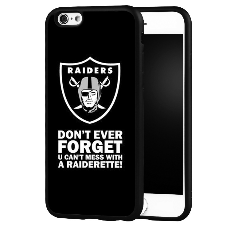 Oakland Raiders Football Printed Soft Rubber Cell Phone Cases For iPhone 6 6S Plus 7 7Plus SE 5 5S 5C 4 4S Back Shell Case Cover