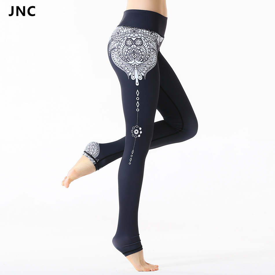Classic Style Black Night Bats Printed Yoga Pants Women Fitness Gym Running Trousers Sports Leggings Yoga Compression Tights