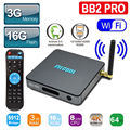 S912 MECOOL BB2 PRO Android TV Box Amlogic Octa núcleo 3GB16GB Dual wi-fi UHD 4 K TV Box KODI 17.0 VP9 1000 M LAN HD Media jogador