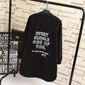 Повседневная Письмо Женщины Шерсть Плюс Размер 3XL Свободные Однобортный Длинные Смеси Пальто Черный KK1915