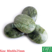 Beauty stone wholesale 4pcs/lot Hot Stone Therapy Power Rock massage body stone/glaze jade 80x60x25mm