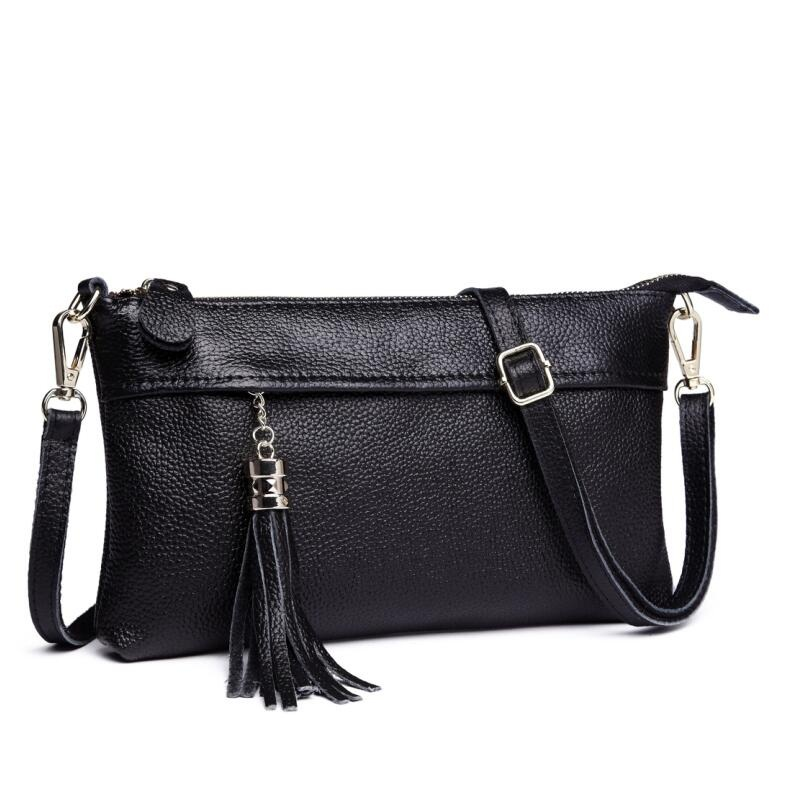 Women Soft Leather Bag Genuine Leather Handbag Women Shoulder Bag Luxury Brand Messenger Bags Tassel Female Tot bolsa feminina kzni genuine leather bag female women messenger bags women handbags tassel crossbody day clutches bolsa feminina sac femme 1416
