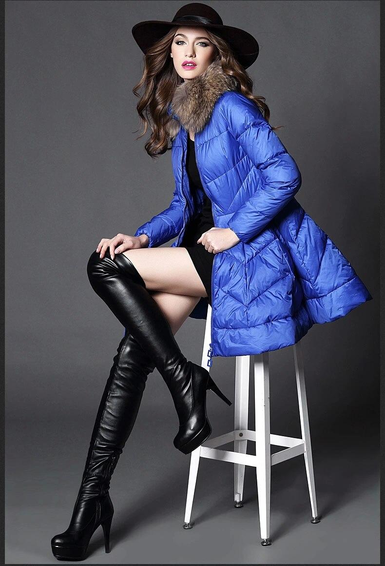 S XXL New Fashion Women Autumn Winter Thick Skirt 100 White Duck Warm Brand Jacket Female