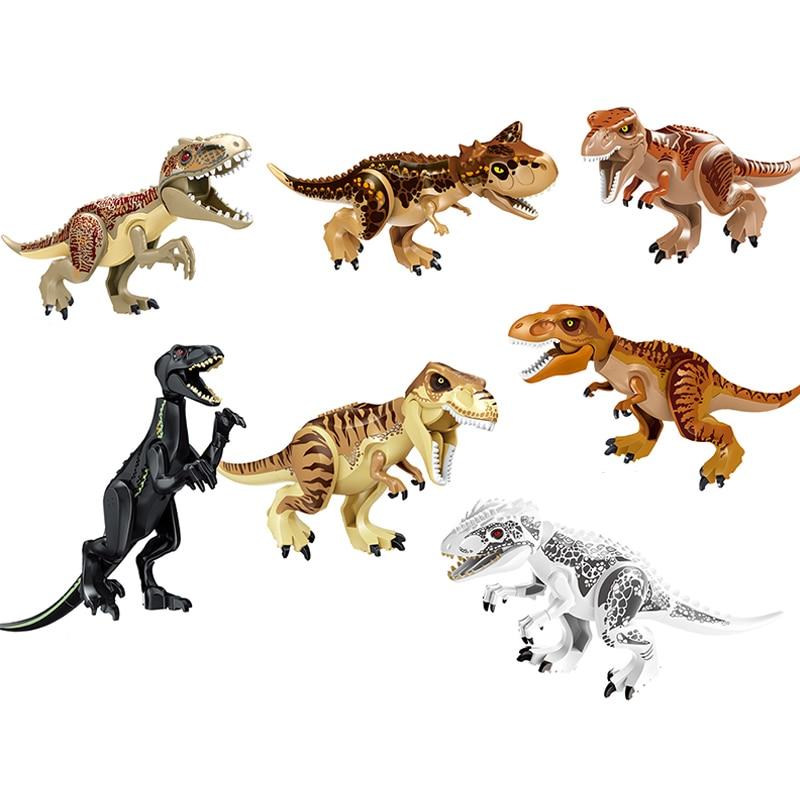 Jurassic World 2 Fallen Kingdom Carnotaurus Indominus Rex Interbreed Velocira Dinosaurs Figures Building Blocks Kid Toys fairest volume 2 hidden kingdom
