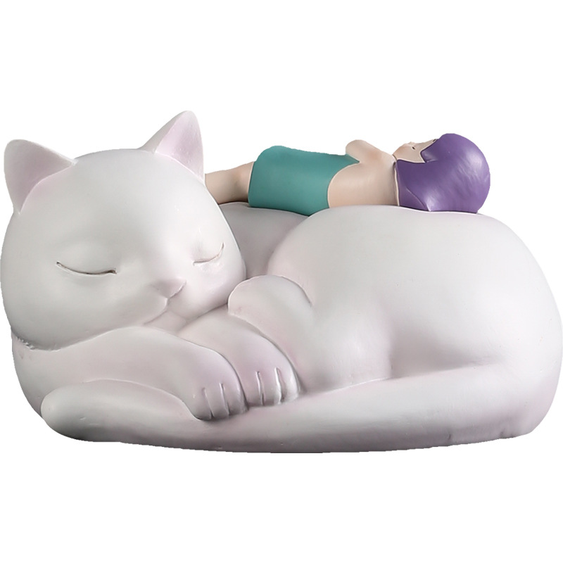 Girls and CatsCreative Crafts Girl and cat Figurine and Luxurious Desktop Arrangements in Living Room Home Decoration drop shipGirls and CatsCreative Crafts Girl and cat Figurine and Luxurious Desktop Arrangements in Living Room Home Decoration drop ship