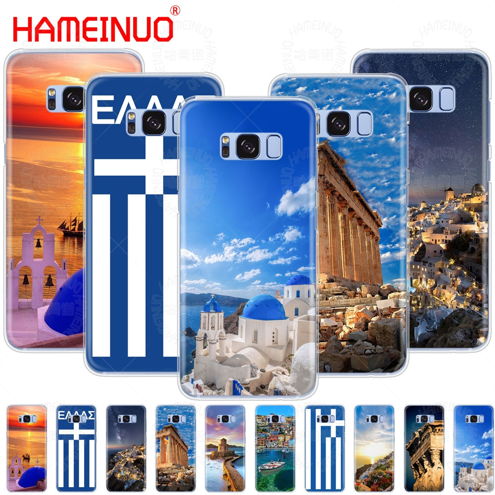 HAMEINUO Ancient Flag of Greece Scenery cell phone case cover for Samsung Galaxy E5 E7 Note 3,4,5 8 ON5 ON7 grand G530 2016