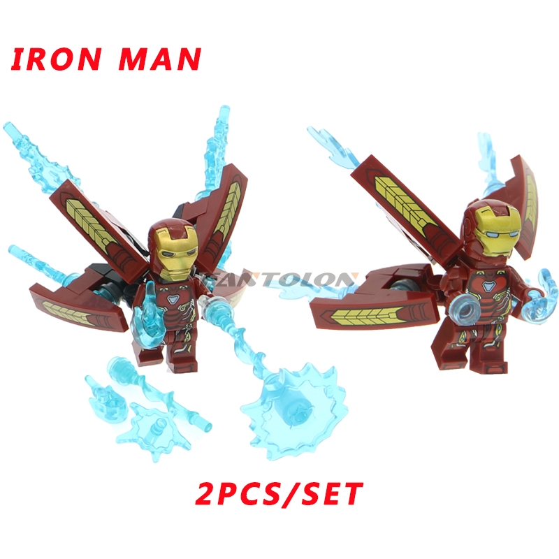 Galleria fotografica Cool Super Heroes <font><b>Legoing</b></font> Avengers: Infinity War Thanos the Iron Man Building Blocks Kit Figures education toy for children