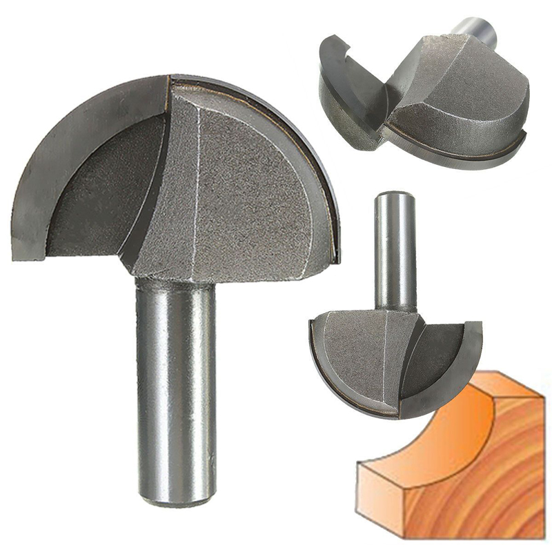 1/2 Inch HSS Milling Bits Shank Round Nose Cove Core Box Router Bit Shaker Cutter Tools For Woodworking End Mills  цены