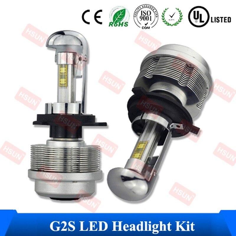 ФОТО 2 PCS/Lot Free Shipping H7 ETI Flip LED Xenon Light Bulb 6000K White 7200LM H4 LED Fog Lamp For Truck Car Auto LED Headlight Kit
