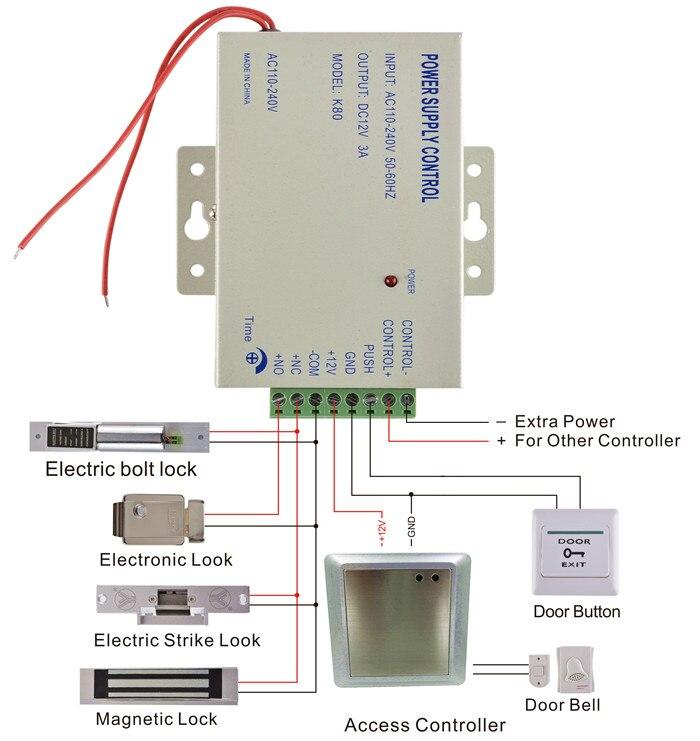 125khz rfid card reader password keypad electric bolt lock door rh aliexpress com