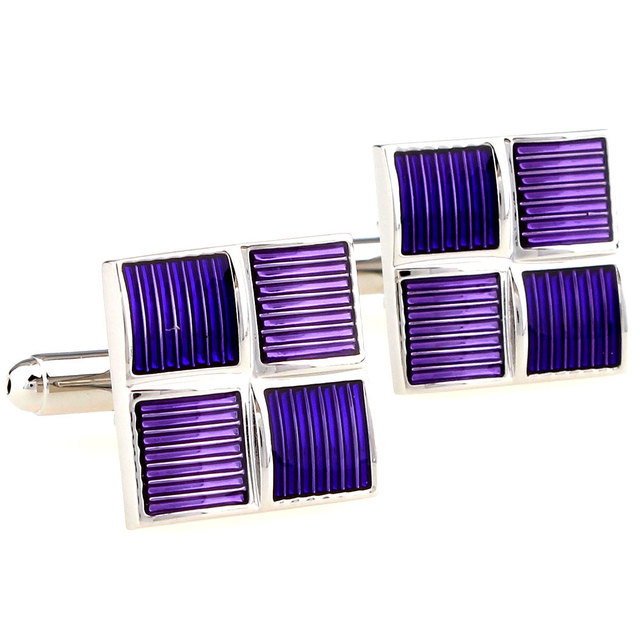 Rare Fancy Unique Square Paint Cuff Links Men's Suit Dress Wedding Groom Anniversary Business Cufflinks Gift 160871