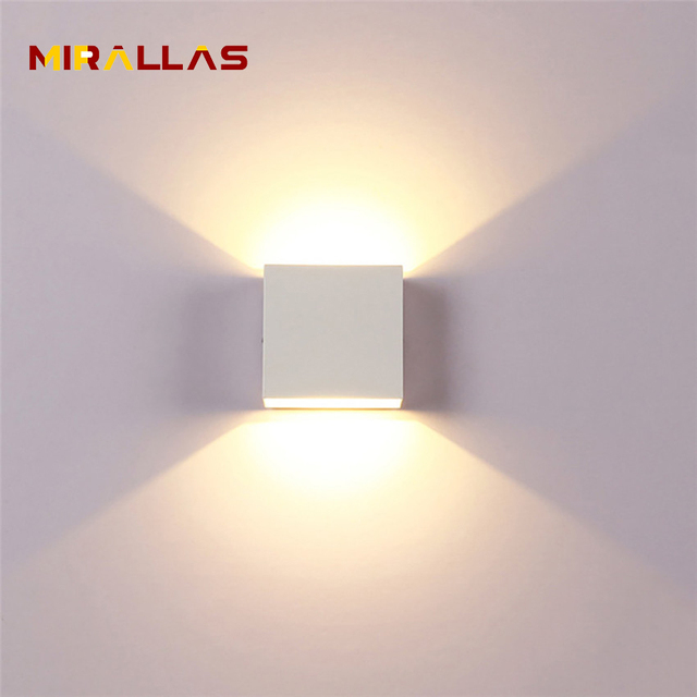6W LED Up Down Wall Lights Aluminum Modern Wall Lamp AC110V AC220V Indoor Wall Lighting For Bedroom Living Corridor ML-06
