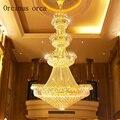 Хрустальная люстра в пентхаусе  напольная Люстра для гостиной  европейский стиль  вилла  зал  отель  люстра  лампа для лестницы