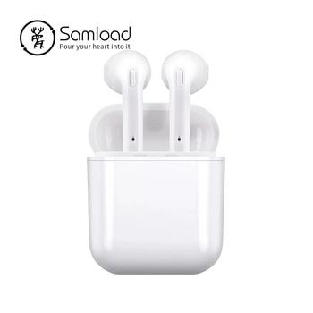 Samload Draadloze Bluetooth Oordopjes Stereo oortelefoon In-Ear Oortelefoon Microfoon met doos voor Iphone 6/7/8 plus Apple android