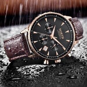 Image 4 - ผู้ชายดูหรูหราแฟชั่น Casual ชายนาฬิกาข้อมือควอตซ์ของแท้หนังผู้ชายนาฬิกา