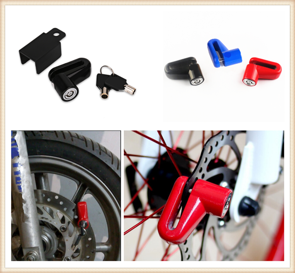 Anti-Theft Brake Disc Lock with Keys Accessory for Motorcycle E-Scooter Bike
