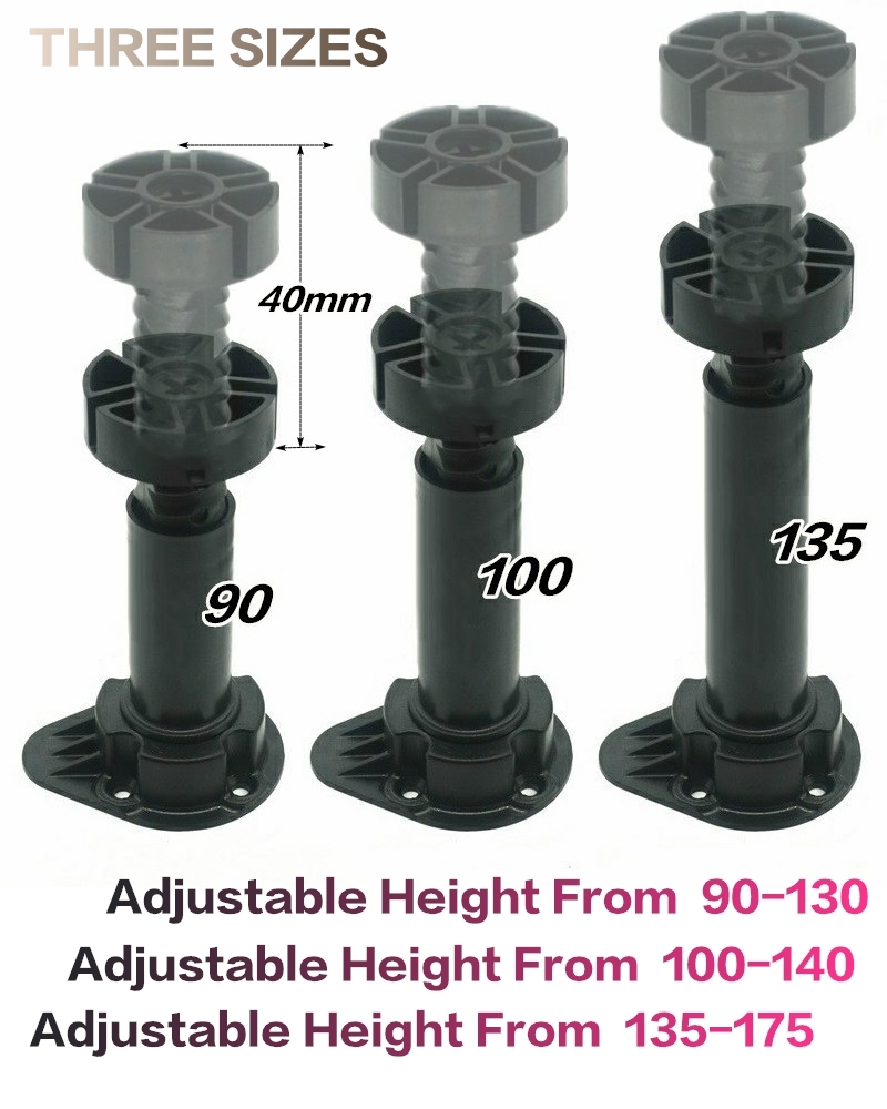1 PCS A PACK Plastic Adjustable Leg For Kitchen Cabinet Bath Vanity 90MM,100MM,135MM