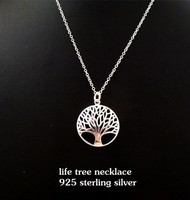 Hollow Tree of Life Disc Pendant Necklace totem gift girl women wedding Valentines Day love jewelry Wholesale Christmas Gift