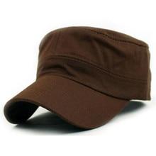 1504416ff67 Womail Classic Plain Vintage Army Military Cadet Style 58cm Unisex Cotton Cap  Hat Adjustable Gift Feb