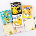 Free Shipping Kawaii Cartoon Pokemon Go Note Pikachu Notebook Label Education Learning Tools For Kids School Stationery