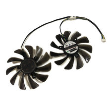 2pcs/set 85MM/95mm Alternative FDC10U12S9-C CF1010U12S GPU Fan For XFX RX 580 RX590 HIS RX580 IceQ RX570 Graphics Card Cooling(China)