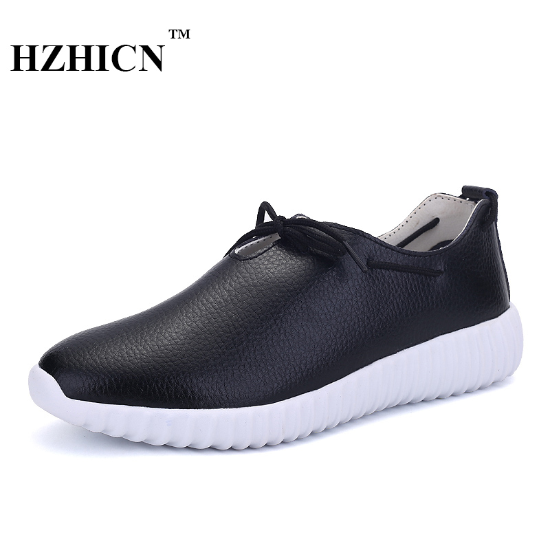 Women Casual Shoes Soft and Comfortable Oxfords Zapatos Mujer High Quality Flats Fashion Lace Up Genuine Leather Shoes Top Brand купить