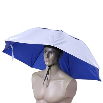 Foldable Head Umbrella Hat Anti-Rain Anti-UV Outdoor Fishing Caps Portable Travel Hiking Beach Fishing Tackle pesca Rain Gear