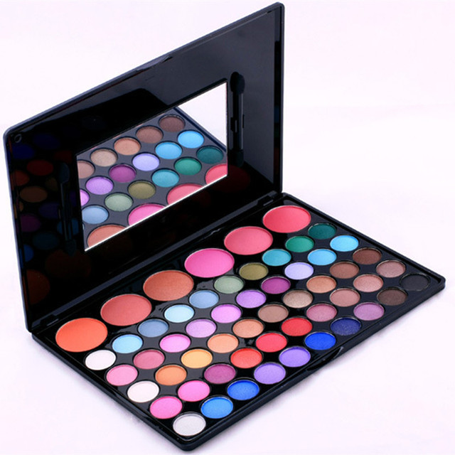Professional makeup eyeshadow 56 Color Eye shadow & Blush makeup Palette Kit Women Beauty Cosmetic Set