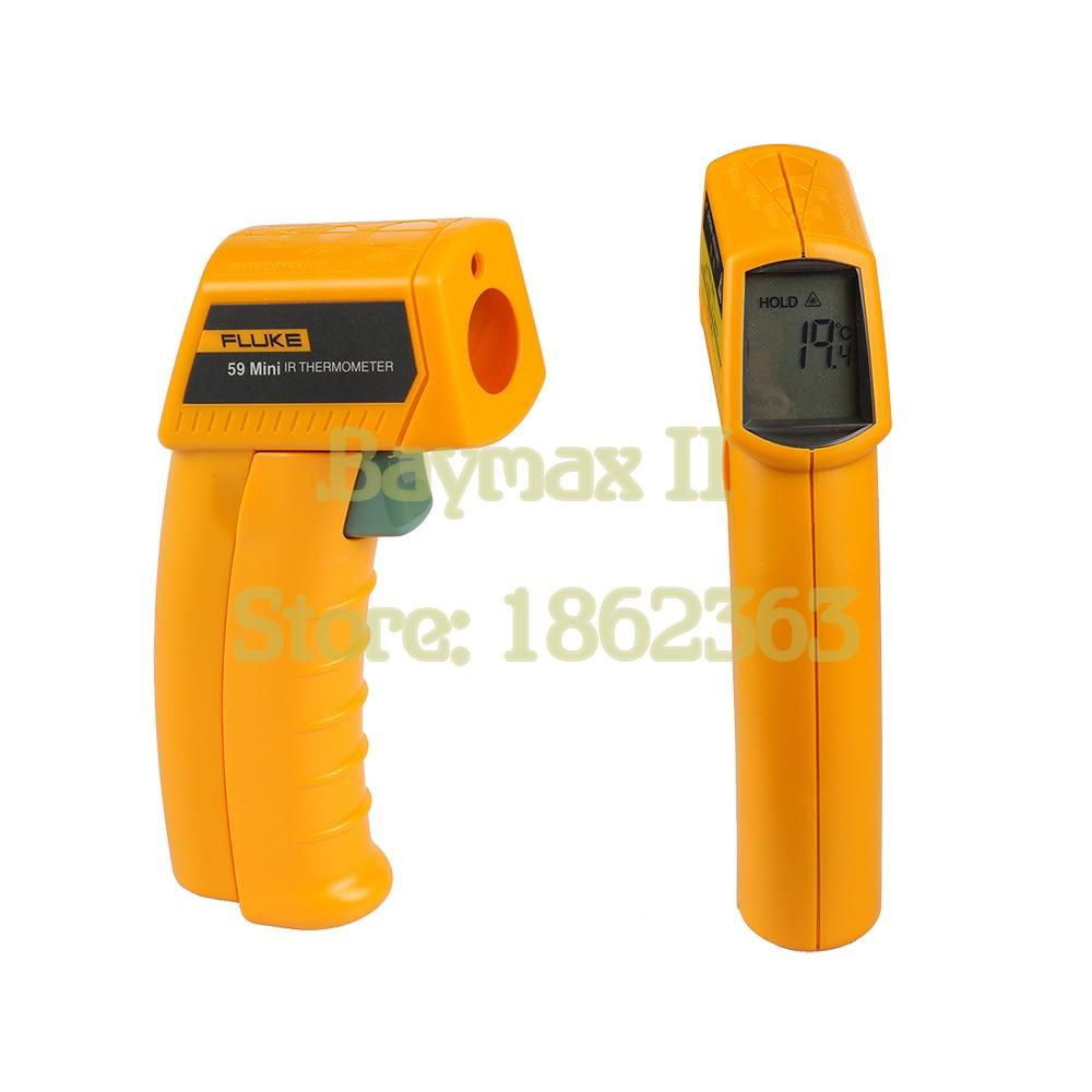 Fluke 59 mini Non-Contact Digital Laser Temperature Gun IR Infrared Thermometer Sight -18~275C(0~525F) Emissivity 0.95 8:1 4 8 days arrival raytek mt4 infrared mini temp laser thermometer gun 18 to 400c
