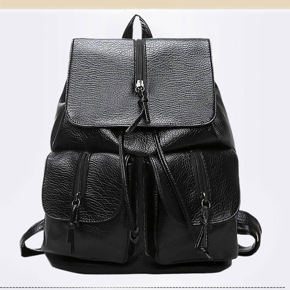 XINIU New Travel Backpack Korean Women Backpack Leisure Student Schoolbag Soft PU Leather Women Bag High Quality Canta #A9 new travel backpack feminine korean women fashion backpack leisure student schoolbag black soft pu leather women bag 14ba31 9 2