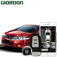 City 15 car accessories Keyless Entry Comfort System PKE Phone APP Remote Start Car Engine Car Alarm Push 913