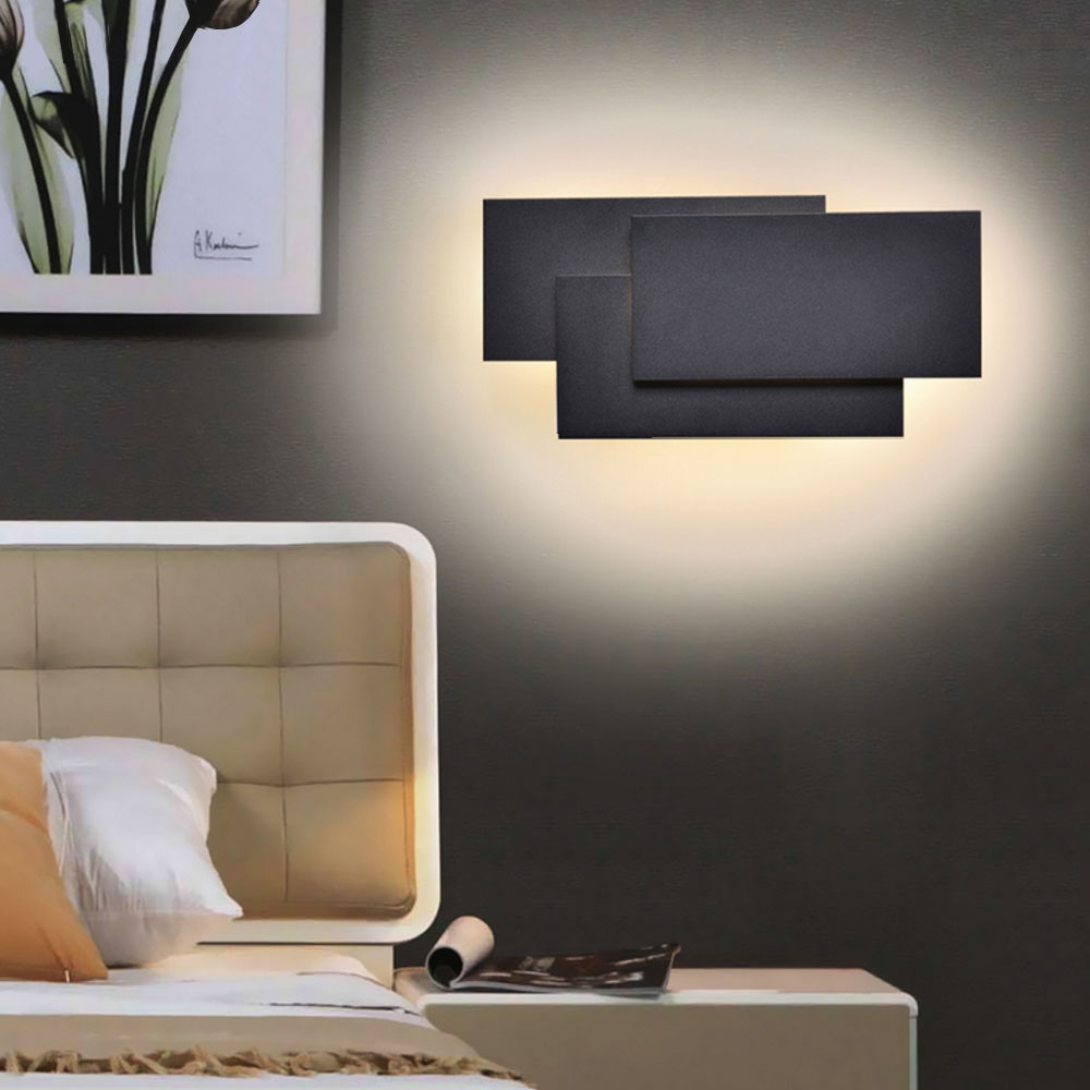 Parede Lâmpadas LED Lustre Luz Da Parede De Alumínio Pintado de Branco Preto Para O Quarto Casa de Iluminação Luz Do Banheiro Luminária Arandela Luminária - 5