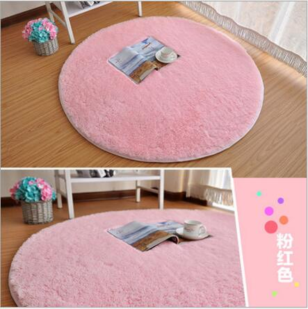 Round living room carpet Mat 4CM long hair bedroom carpet tea table ...