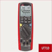 UNI-T Ut71d inteligente multímetro Digital Voltios Amperios Ohm Capacitancia Temperatura termómetro medidor con USB