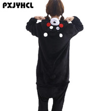 Adult Anime Kigurumi Onesies Cute Kumamon Costume For Women Men Funny Warm Soft Animal Onepieces Sleepwear Home Cloths For Girl(China)