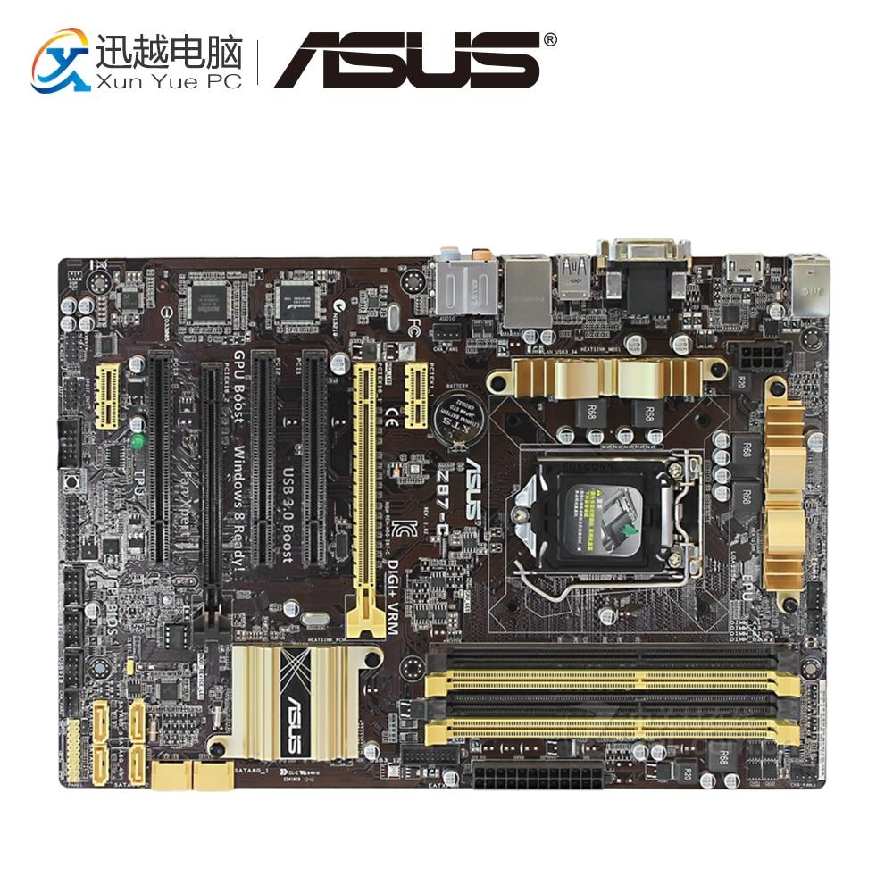 Asus Z87-C Desktop Motherboard Z87 Socket LGA 1150 i7 i5 i3 DDR3 32G SATA3 USB3.0 ATX used for asus p8p67 evo desktop motherboard p67 socket lga 1155 i3 i5 i7 ddr3 32g sata3 usb3 0