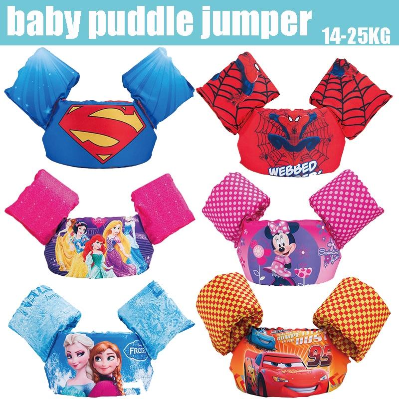 kids baby life vest Superman batman spiderman swimming boys girls superhero swimming circle pool accessories Swimming Rings