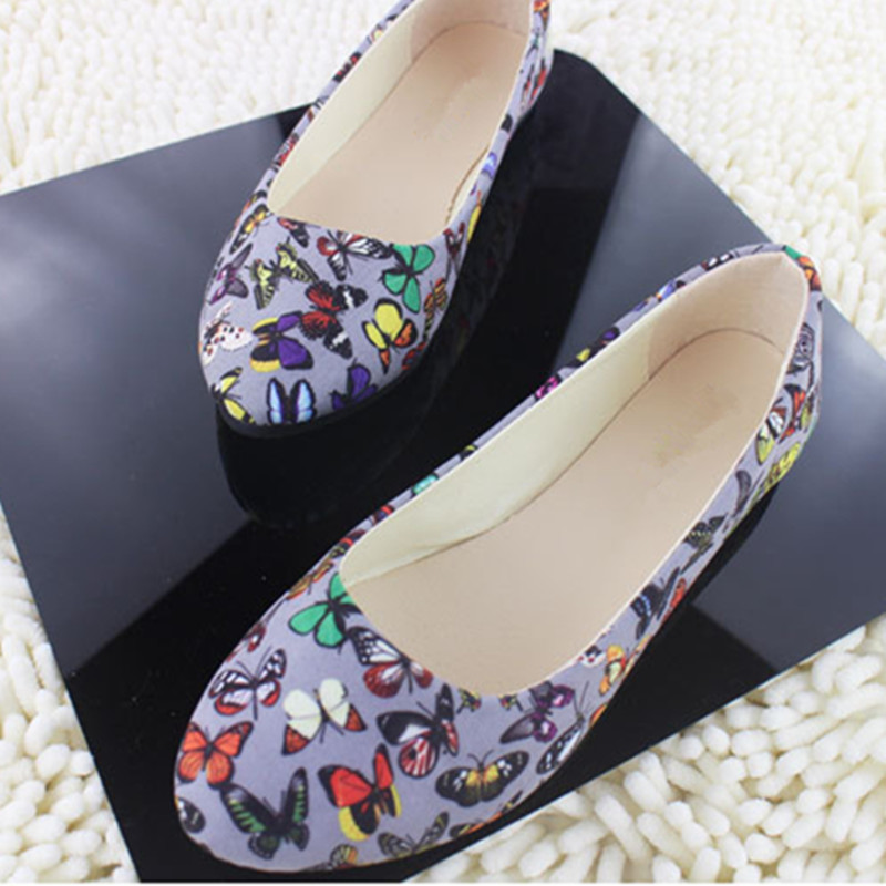 Women Flats Slip On Casual Shoes 2017 Summer Fashion Flower New Comfortable Flat Shoes Woman Work Loafers Plus Size 35-42 women flats slip on casual shoes 2017 summer fashion new comfortable flock pointed toe flat shoes woman work loafers plus size
