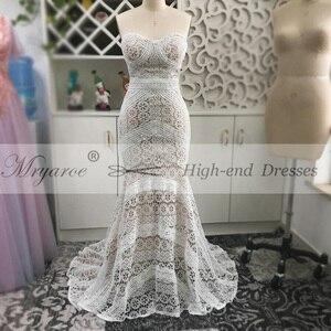 Image 5 - Mryarce 2019 luksusowa ekskluzywna koronkowa suknia ślubna syrenka bez ramiączek miłość zaklęcie boho weselny Chic suknie ślubne