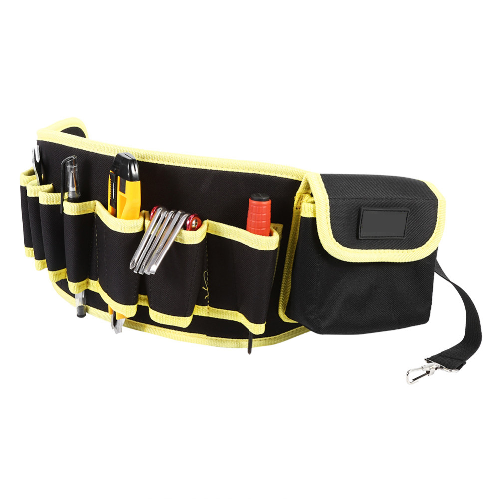 Tool Organizers Steady Electricians Adjustable Waist Pocket Belt Tool Bag 4 Color Pouch Hammers Pliers Screwdriver Holder Storage Hand Repair Tool