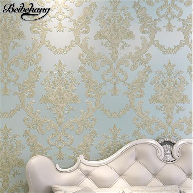 beibehang European Embossed 3D Deep Embossed Stereo Wallpaper Living Room Bedroom TV Background Wall paper papel de parede large mural papel de parede european nostalgia abstract flower and bird wallpaper living room sofa tv wall bedroom 3d wallpaper