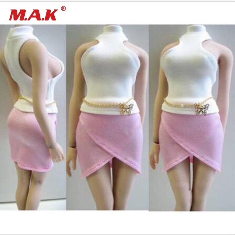 1/6 Female Clothes Set Vest Short Skirt Belt Clothing Set For 12 Big Chest Girl Action Figure Toys1/6 Female Clothes Set Vest Short Skirt Belt Clothing Set For 12 Big Chest Girl Action Figure Toys