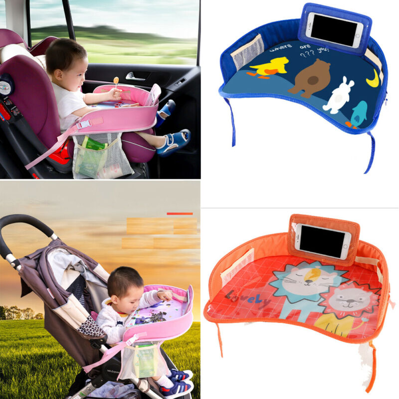 Multi Function Waterproof Car Safety Seat Plate Eating Table Stroller Kids Baby Eating Cartoon Chair Tray Gift