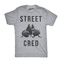 Mens Street Cred Funny T shirts Pigeons Tee Novelty Shirts Hilarious Vintage s Harajuku Fashion Classic Unique free shipping